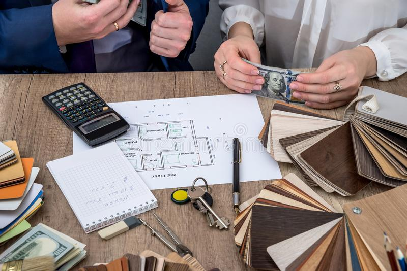 Распределение финансов на будущее работы стоковые изображения rf