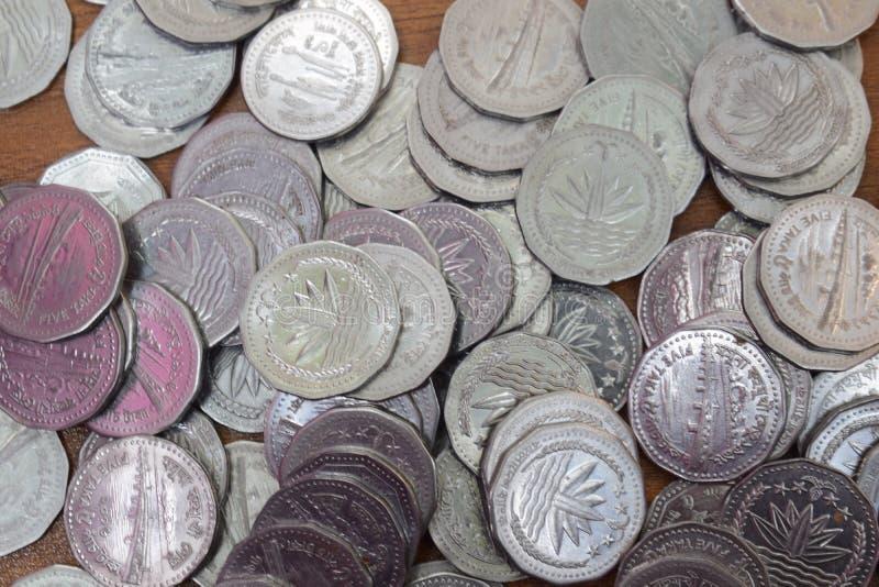 Распространение монетки стоковая фотография rf