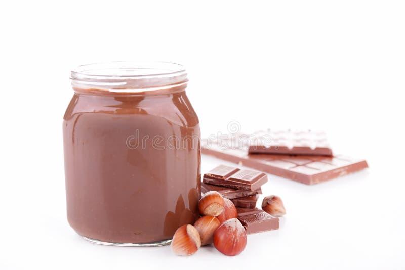 Распространение шоколада, nutella стоковое изображение
