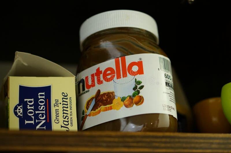 Распространение Nutella стоковое изображение