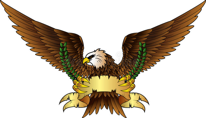 Распространите, который подогнали insignia орла иллюстрация вектора