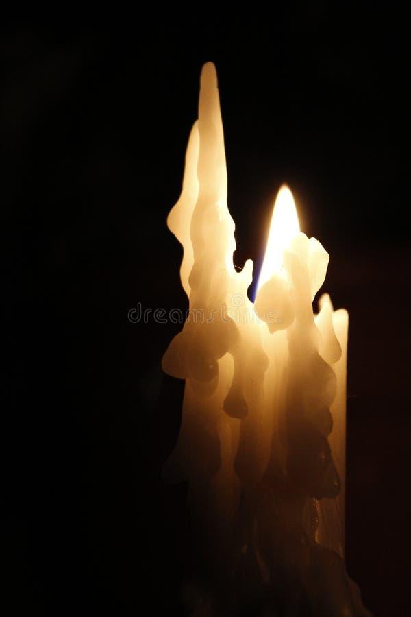 расплавленная свечка стоковая фотография rf