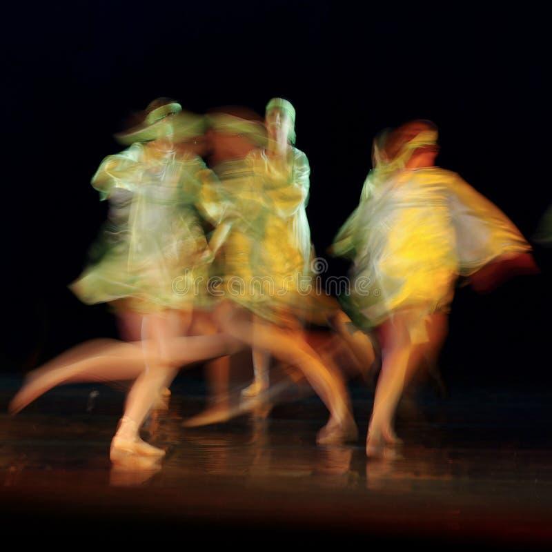 Расплывчатые танцоры стоковое фото rf