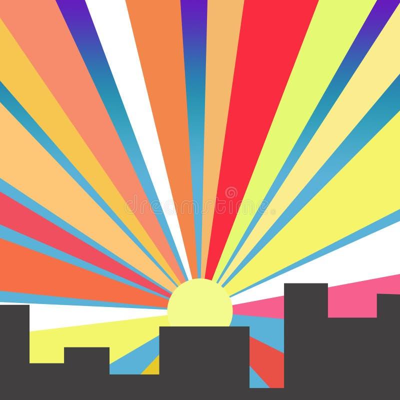 Рассвет в городе стоковое фото rf