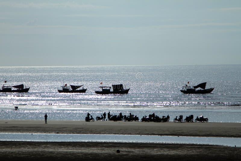 Рассвет в море Vanh жулика стоковое фото rf