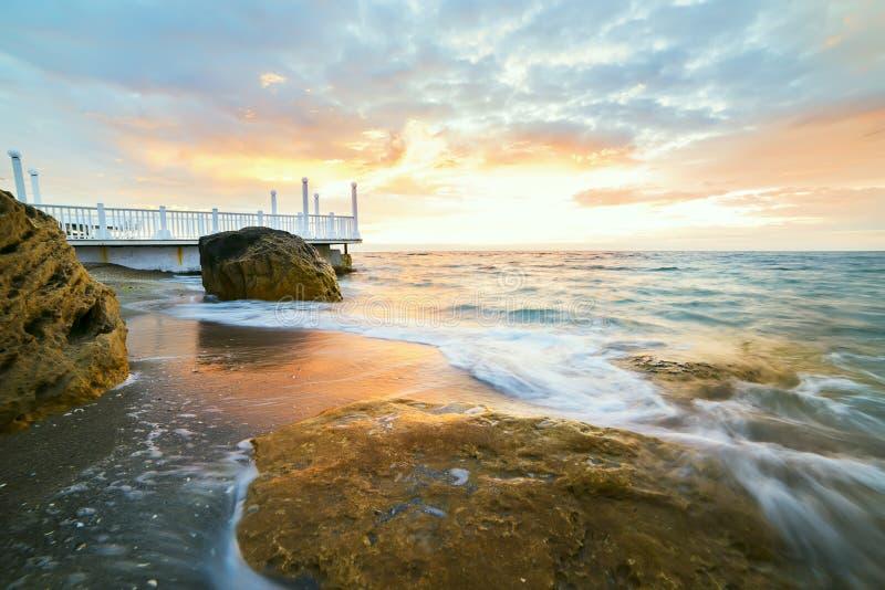 Рассвет морем стоковая фотография rf