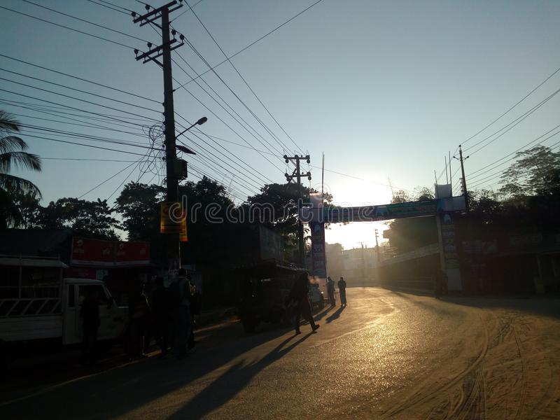 рассвет на улице стоковые изображения rf