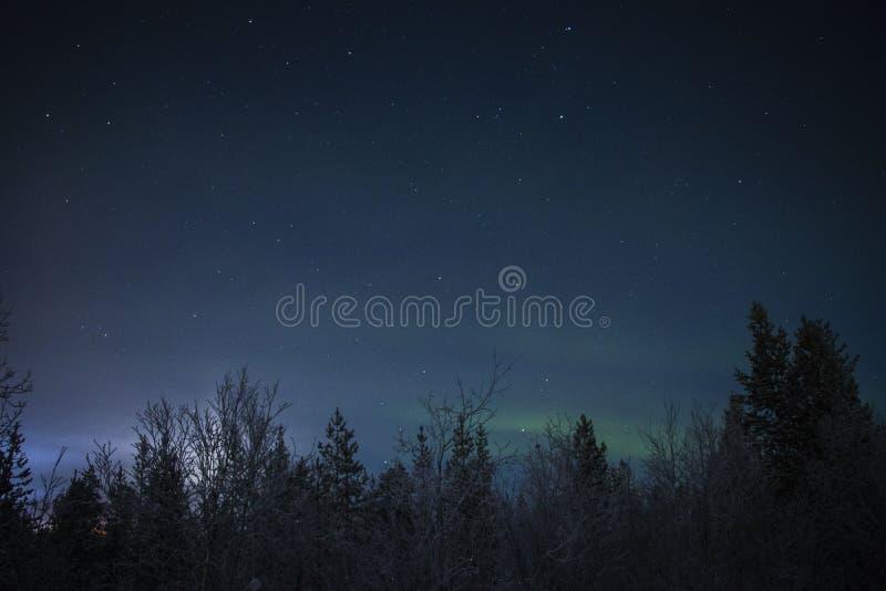 Рассвет освещает вверх в Мурманск стоковая фотография rf