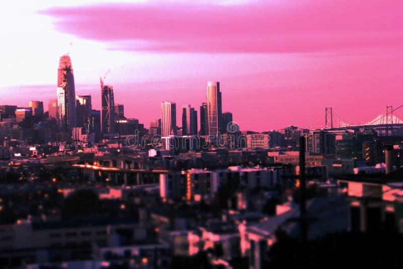Рассвет Сан-Франциско @ стоковое фото rf