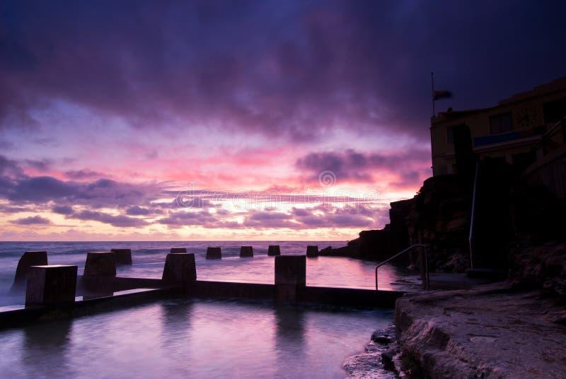 рассвет Сидней coogee пляжа стоковая фотография