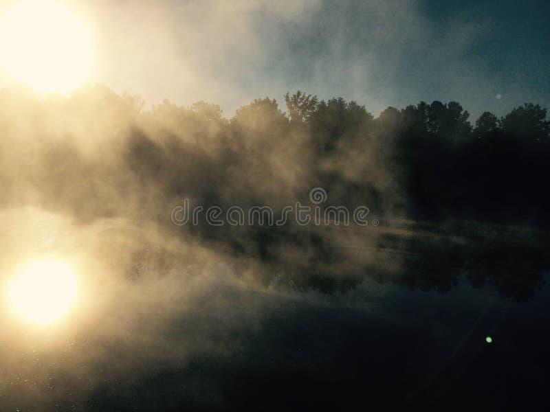 рассвет туманный стоковые изображения rf