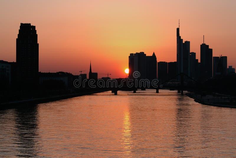 рассвет frankfurt Германия стоковые фотографии rf