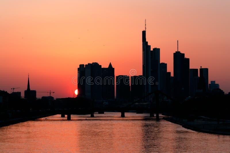 рассвет frankfurt стоковые изображения rf