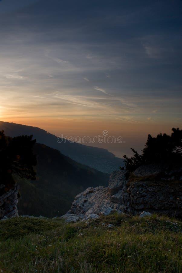 рассвет yalta стоковые фото