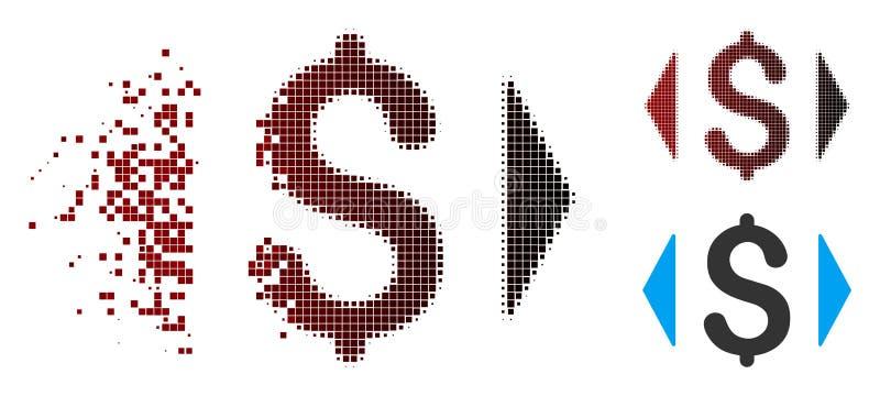 Рассеиванное полутоновое изображение пиксела регулирует значок цены иллюстрация вектора