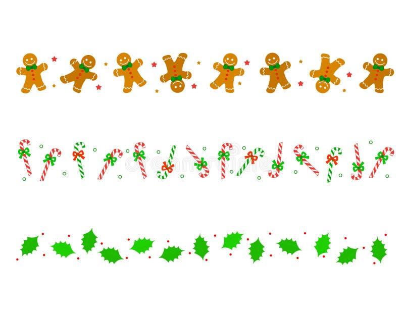 рассекатель рождества граници иллюстрация вектора
