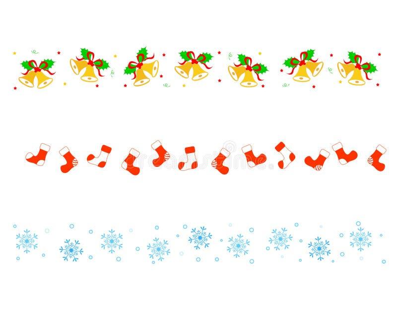 рассекатель рождества граници иллюстрация штока