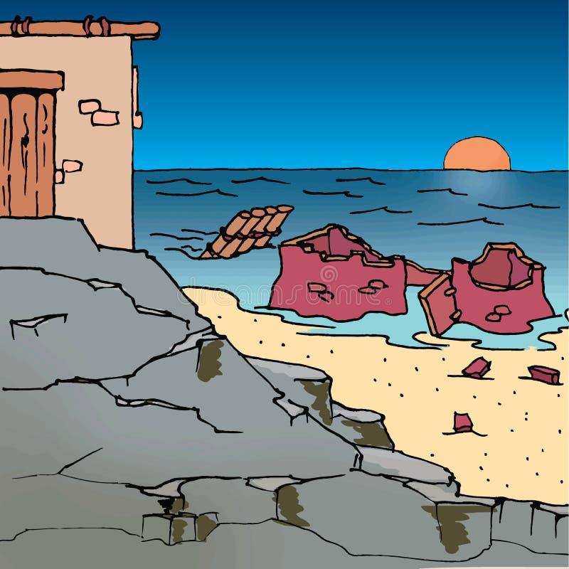 Рассказы библии - велемудрые и сдуру строители бесплатная иллюстрация