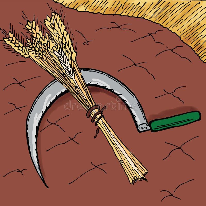 Рассказы библии - притча растущего семени иллюстрация вектора
