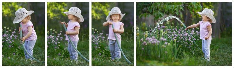 Рассказ сюрприза сада для маленького ребенка стоковые фото
