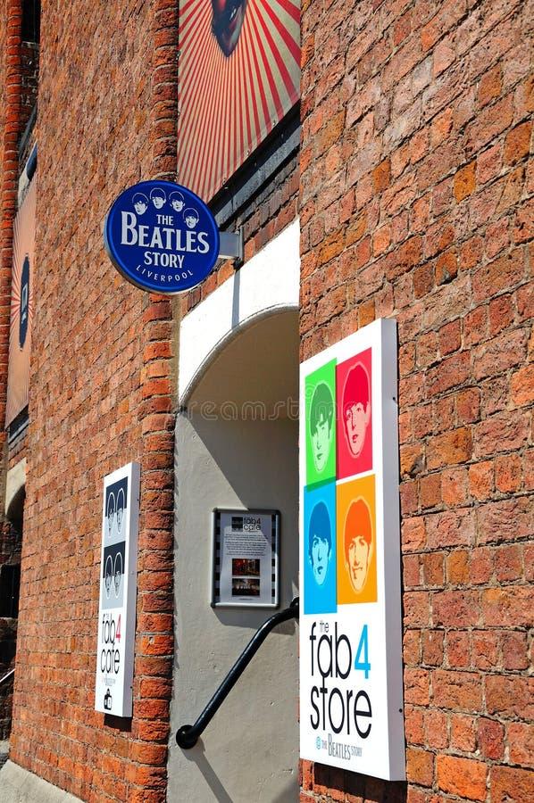 Рассказ Beatles, Ливерпуль стоковые изображения rf