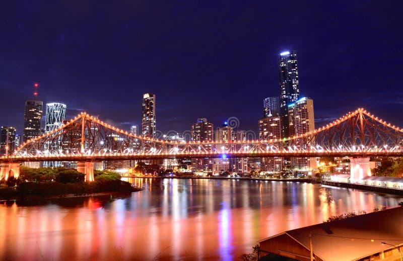 рассказ brisbane моста стоковые фото