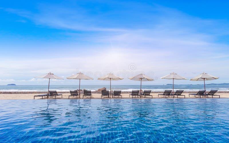 Расслабляющее летнее время перед пляжем штиля стоковое изображение rf