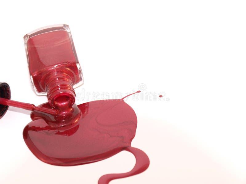 расслоина маникюра красная стоковая фотография rf
