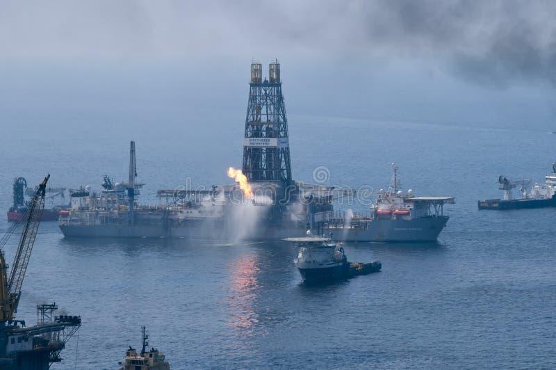 расслоина масла горизонта deepwater bp стоковая фотография rf
