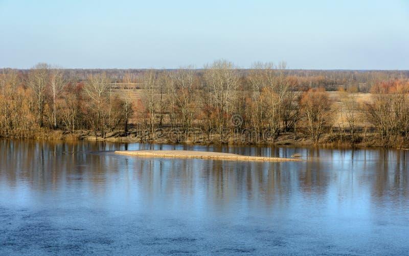 Расслоина реки Dnieper весной стоковое изображение rf
