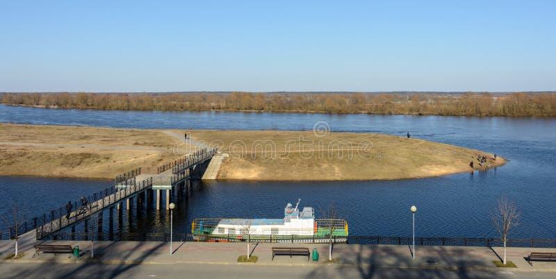 Расслоина реки Dnieper весной стоковая фотография rf
