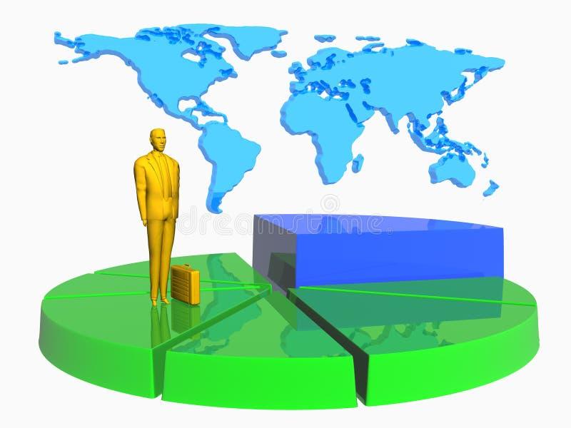 Download расстегай графика бизнесмена Иллюстрация штока - иллюстрации насчитывающей экземпляр, диаграмма: 487756