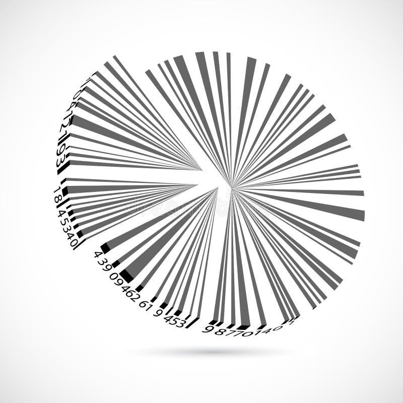 расстегай Кода диаграммы в виде вертикальных полос иллюстрация штока