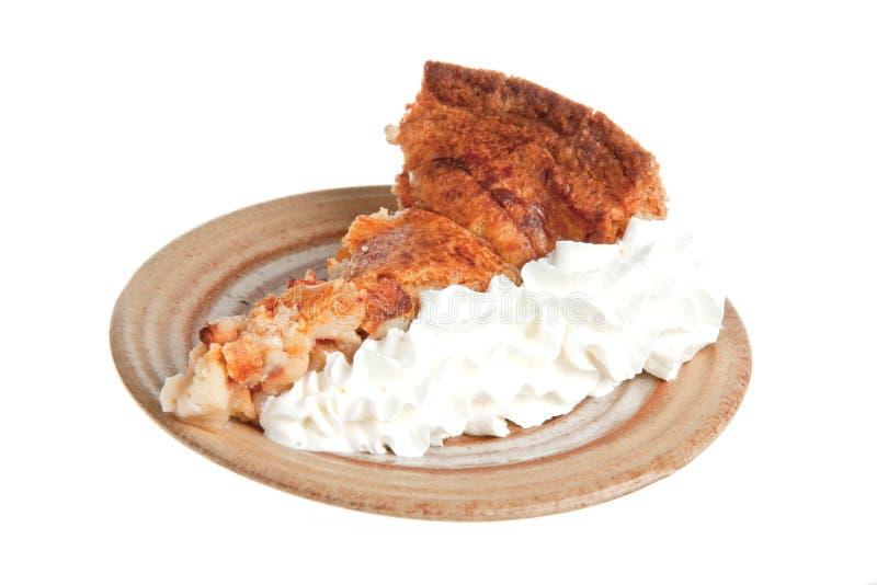 расстегай s cream бабушки яблока домодельный стоковые изображения rf