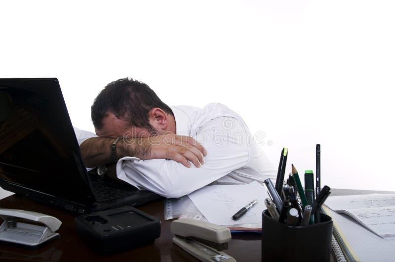 расстроенный бизнесмен усилено стоковая фотография