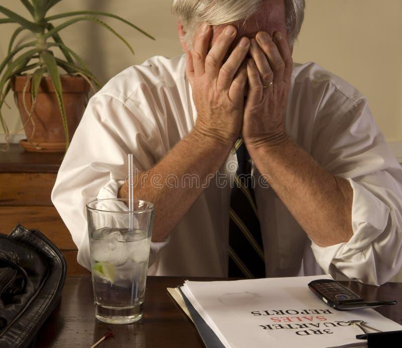 расстроенный бизнесмен стоковые изображения