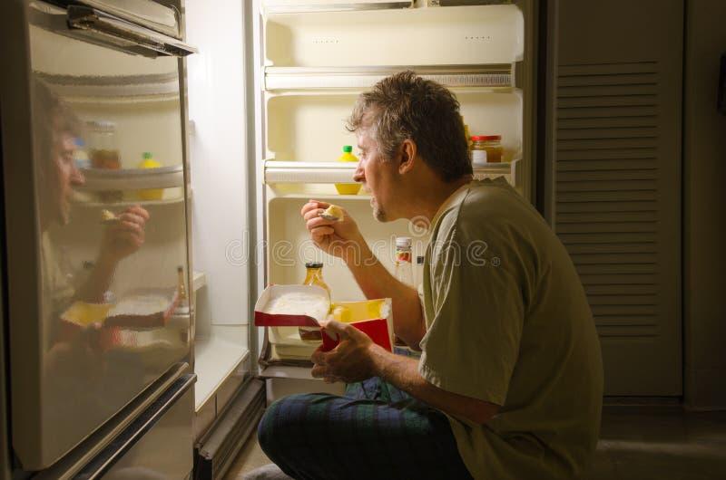 Расстройство пищевого поведения идти сна Nighttime родственное стоковое фото