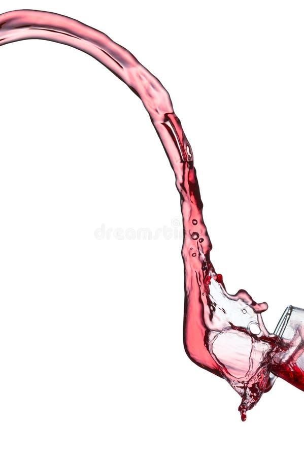 Расслоина красного вина стоковое фото rf