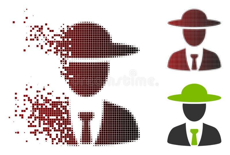 Растворенный значок вождя Agronomist полутонового изображения пиксела бесплатная иллюстрация