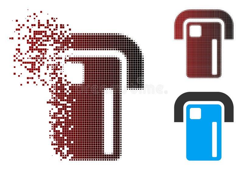 Растворенный значок стержня оплаты полутонового изображения пиксела иллюстрация вектора