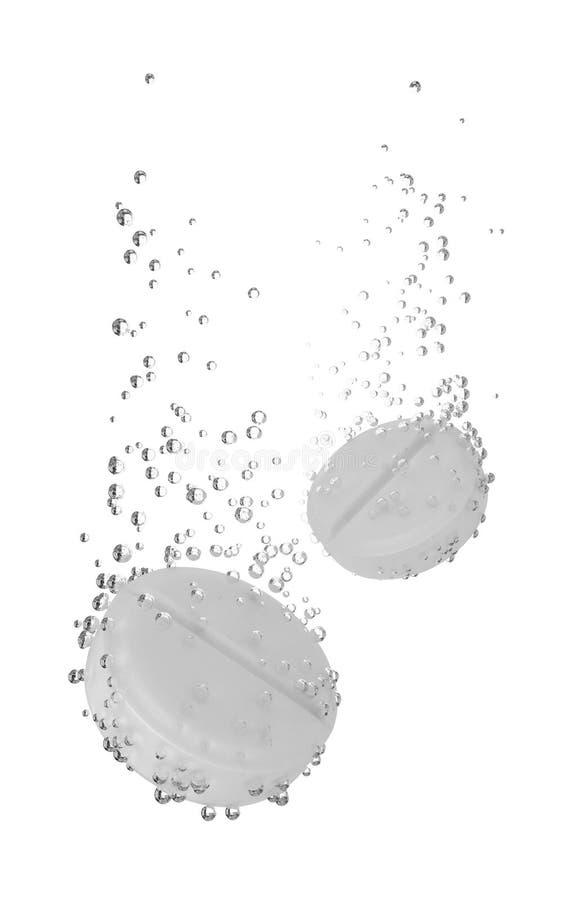 растворяя вода таблетки иллюстрация вектора