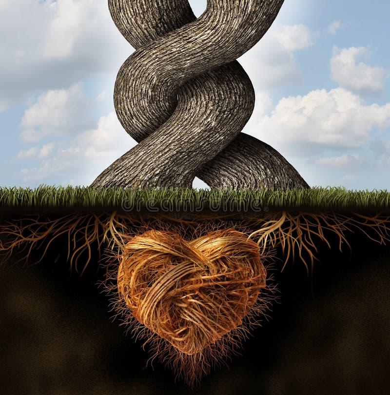 Расти-В-влюбленность иллюстрация штока