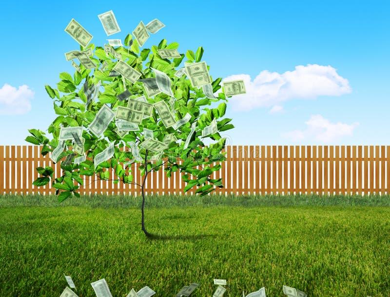 Расти денег иллюстрация штока