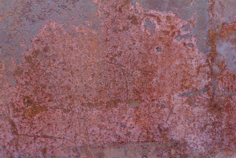 Расти фон Русттекстура старого ржавого железа Красно-коричневая ржавчина покрыла металл стоковое изображение rf
