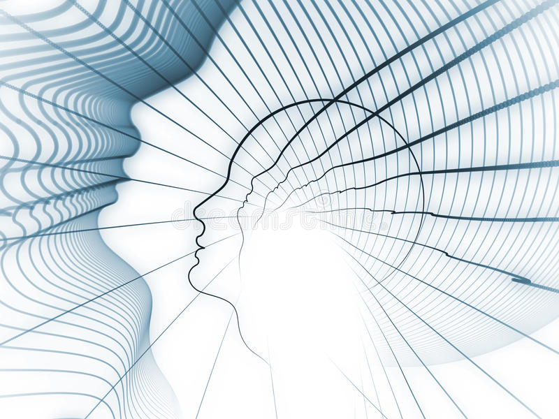Растущая геометрия души иллюстрация вектора