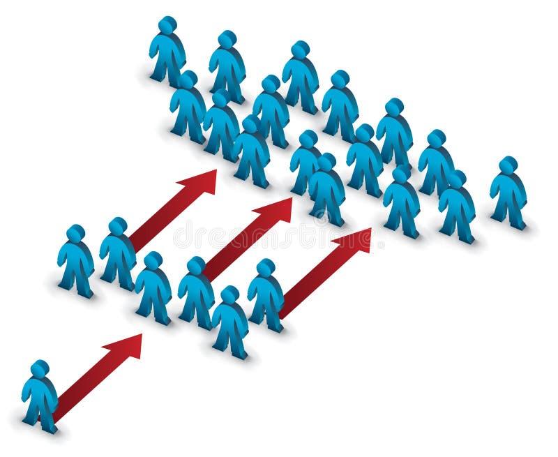 растущие шаги иллюстрация вектора