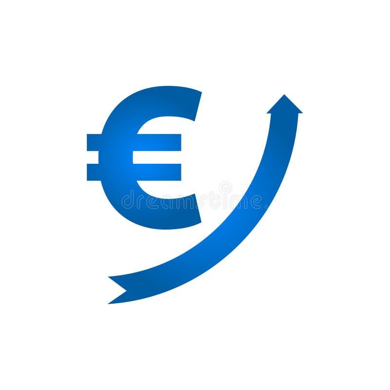 Растущий значок евро бесплатная иллюстрация