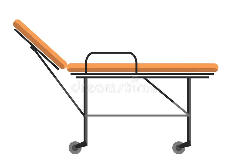 Растяжитель катят каталкой, который используемый для транспортировать стационарные больных иллюстрация вектора