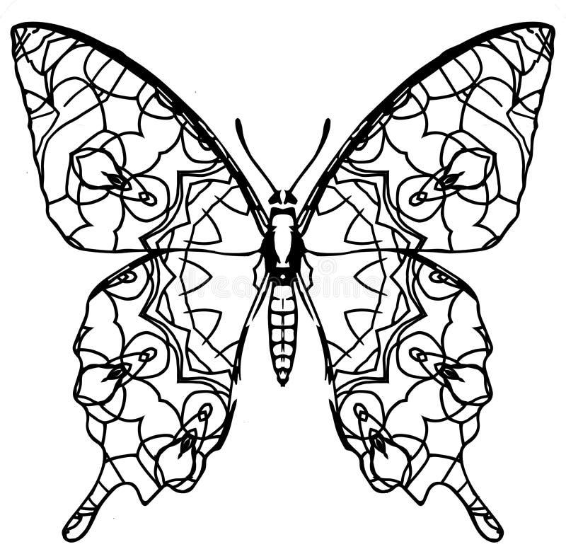 Расцветка бабочки для детей и взрослых на моменты релаксации стоковая фотография rf