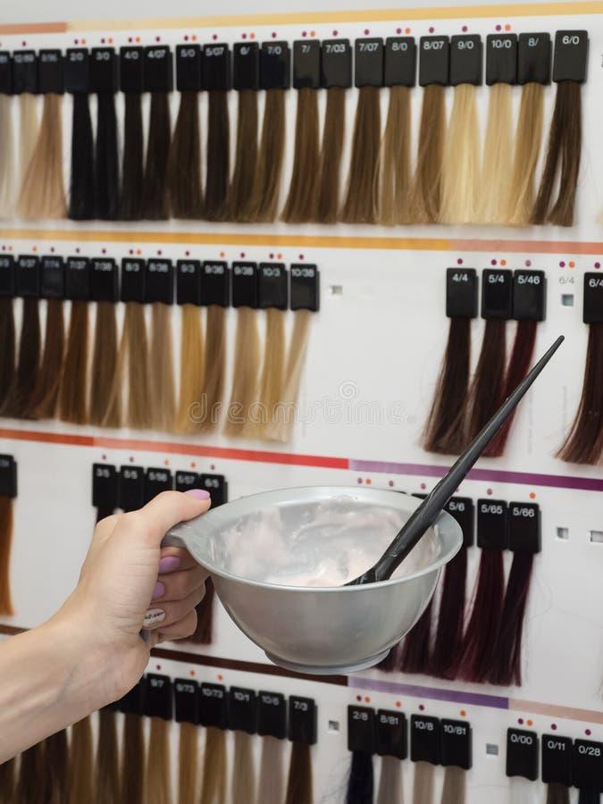 Расцветка волос Шар для смешивать состав стоковые изображения rf